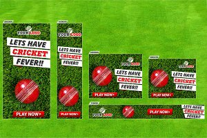 Cricket Banner set (17 Sizes)
