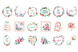 Floral Vintage Cards and Decor