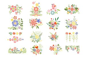 Floral Vintage Illustrations