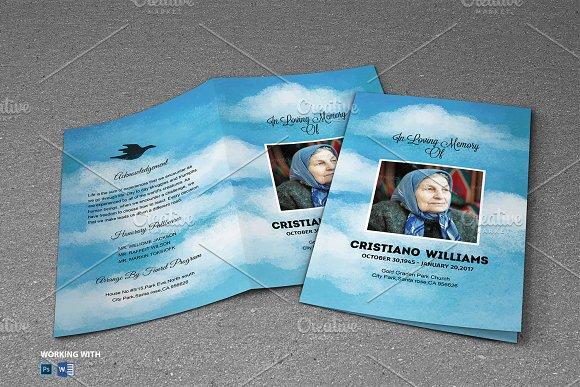 Sky Funeral Program Template