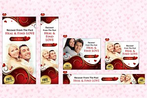 Valentine and Love Banners(17 Sizes)