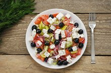 Greek salad on a plate