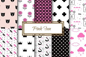 Pink fun patterns for girls