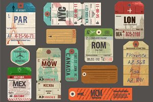 Vintage Travel Mega Pack, Vector
