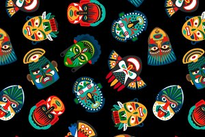 Ethnic mask pattern
