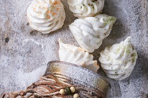 French meringue as Christmas fir tree