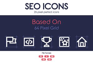 25 SEO Pixel Perfect Icons
