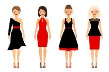 Women in retro dresses