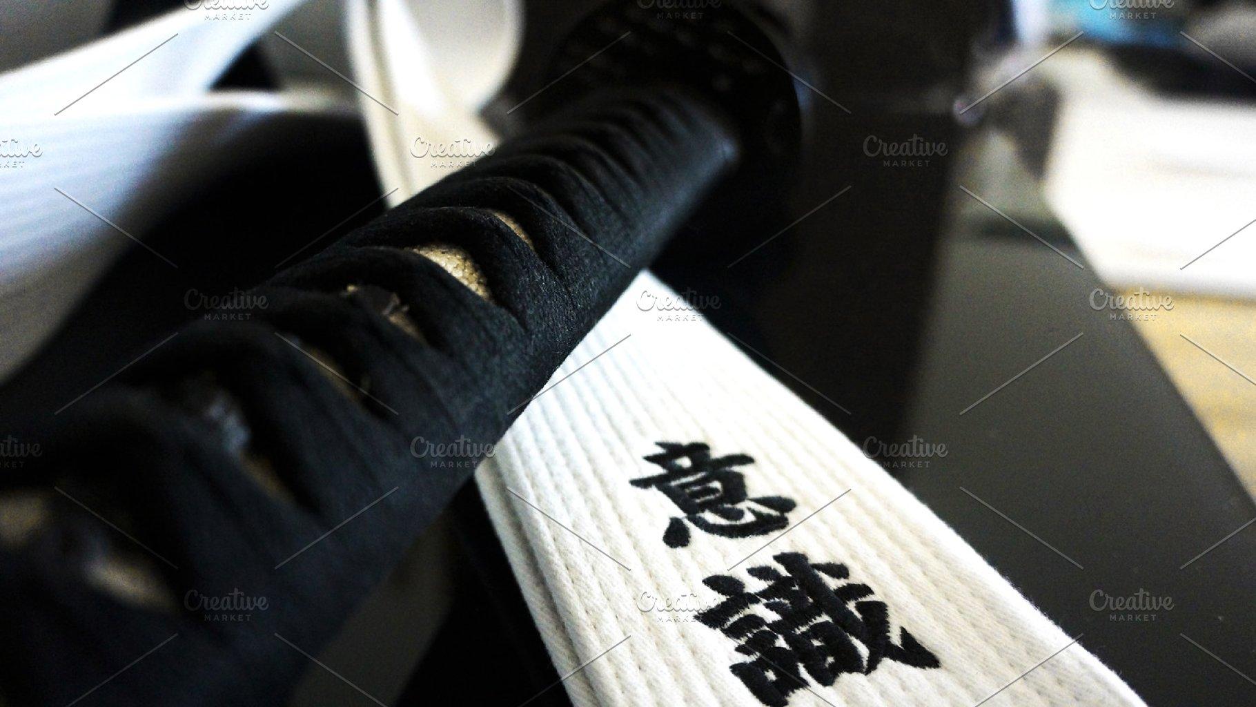 Katana Sword and Martial Arts Belt