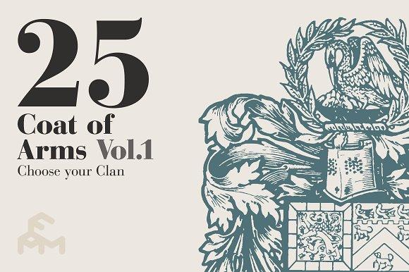25 Coat Of Arms - Vol.1 - Illustrations