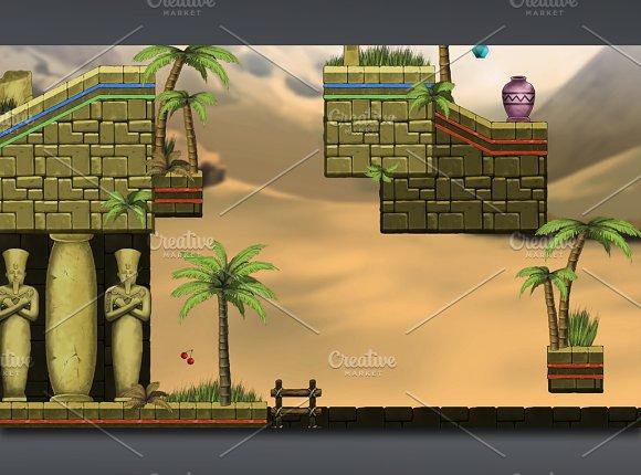 Platformer Tileset 6:Egyptian Temple