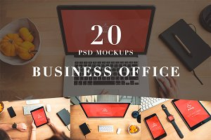 20 PSD Mockups Business Office