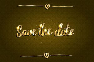 Save Our Date greeting card set