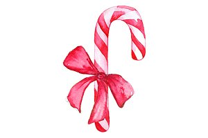 Christmas sweet candy cane lollipop