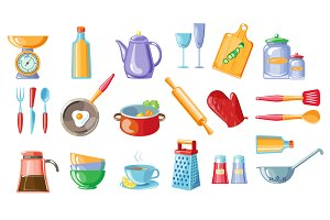 Kitchen Tools colorful Vector