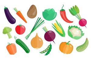 Vegetables Vector icon