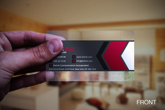 Transparent business card business card templates creative market fbccfo Image collections