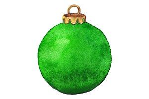 Green shine glass Christmas ball