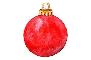 Red shine glass Christmas ball