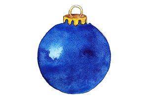 Blue shine glass Christmas ball