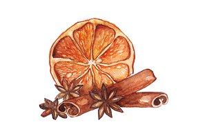 Lemon citrus anise star cinnamon set