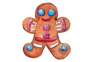 Christmas ginger biscuit smiley man