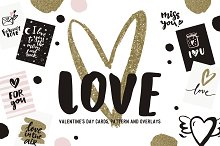 Valentine's Day card and overlays