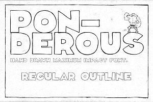 Ponderous - Regular Outline