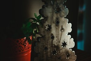 Modern Christmas Tree in Metal
