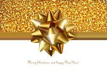 Golden festive decoration