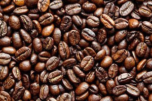 Coffee grains backround