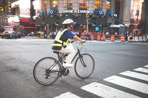 Cyclist in the streets of NY