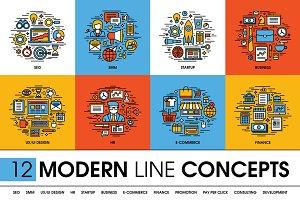 Modern line concepts set