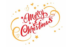 Merry christmas text for Your design