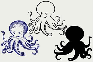 Tentacles octopus SVG