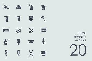 Feminine hygiene icons