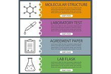 Science lab banner templates. Vector