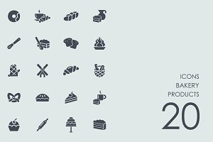 Bakery products icons