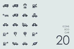 Eco car icons