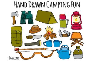 Vector Hand drawn Camping