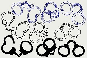 Metal handcuffs SVG