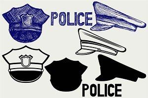 Police cap SVG