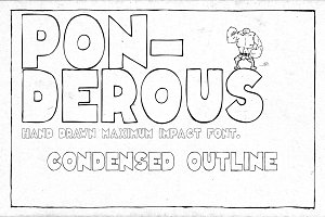 Ponderous - Condensed Outline