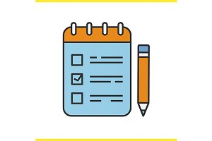 To do list with pencil icon. Vector