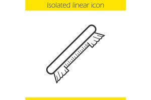 Brush linear icon. Vector