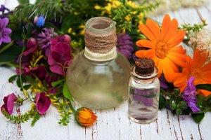 Natural oil wild flower
