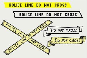 Police tape SVG