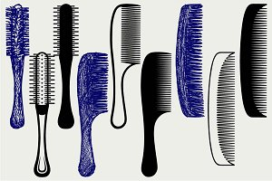 Combs for hair SVG