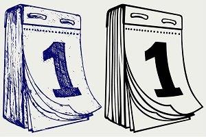 Tear-off calendar SVG