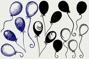 Several balloon SVG